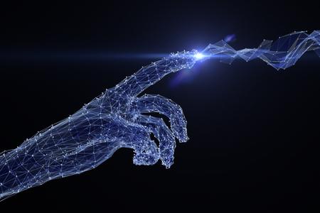 main numérique touchant le réseau