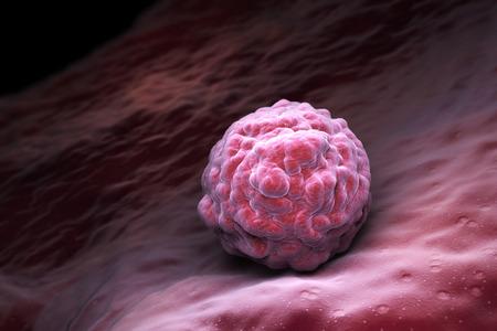 Las células madre embrionarias, la terapia celular, la regeneración, tratamiento de enfermedades. ilustración 3D