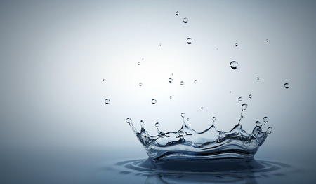 grey water: Water splash on the light grey background. 3D illustration