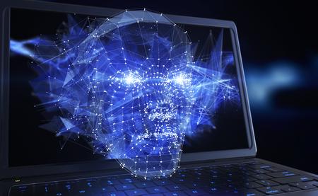 Neuron network concept. 3D illustration 版權商用圖片