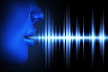 Conceptueel beeld over menselijke stem