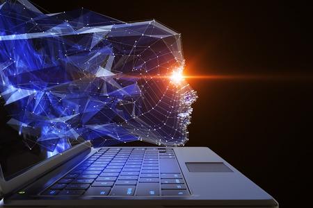 Neuron network concept. 3D illustration Stock Photo