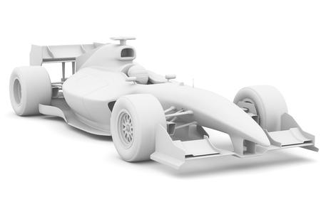bolide: Formula race red car designed by myself. 3D illustration