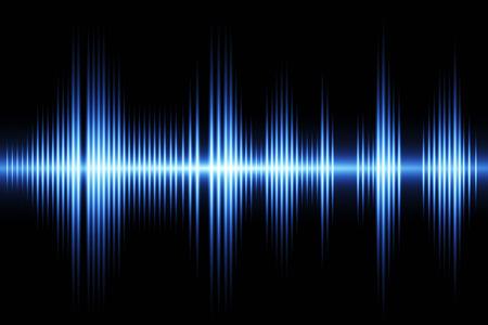イコライザーの音波の背景のテーマ