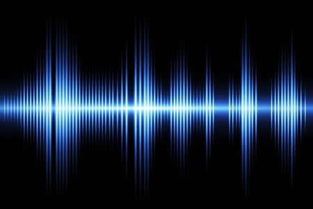 Equalizer sound wave background theme Imagens