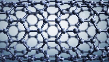allotrope: Graphene molecular structure. 3D illustration Stock Photo