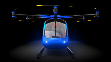 Electric Passenger Drone. This is a 3D model and doesnt exist in real life. 3D illustration 版權商用圖片