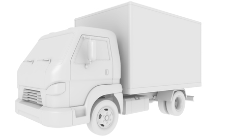 Cargo truck isolated on white. 3D illustration