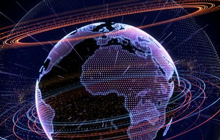 Internet, big data and information technology concept .3D illustration Stok Fotoğraf