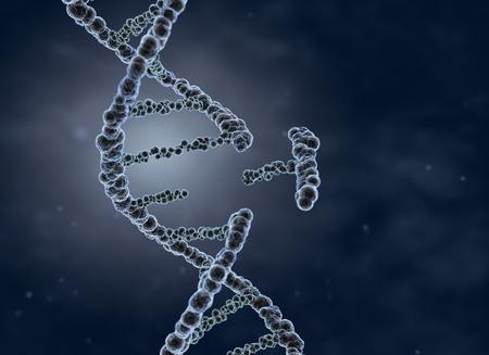 Genetic engineering and gene manipulation concept. 3D illustration Stock fotó