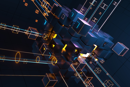 Abstract technology concept. 3D illustration