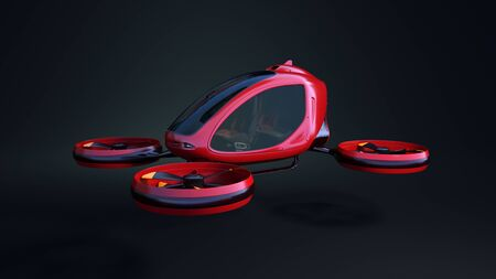 Electric Passenger Drone. This is a 3D model and doesnt exist in real life. 3D illustration Stok Fotoğraf