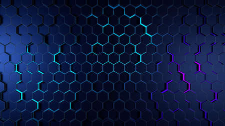 Abstract honeycomb background. 3D illustration