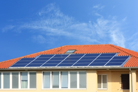 solar roof: photovoltaic  solar panel