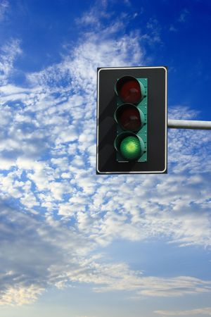 You can go: green light on traffic light Stock Photo - 6548561