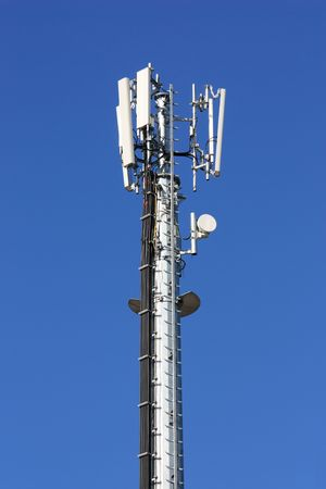 gsm: GSM antenna against blue sky