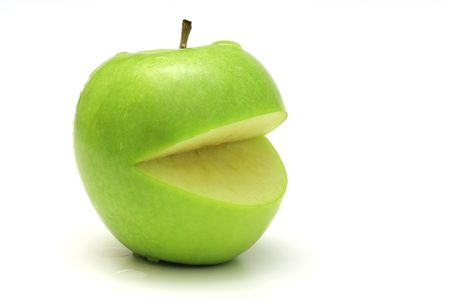 hungry apple Stock Photo - 6855342