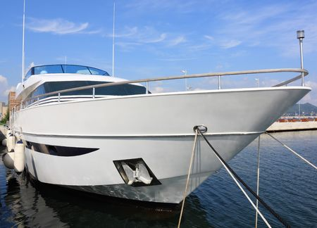 A large private motor yacht on harbor Stock Photo - 7598540