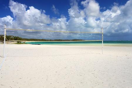 beach volley in tropical beach photo