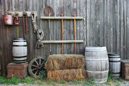 barn backgrounds: agriculture background in country style Stock Photo