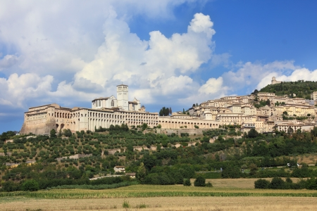 umbria: Assisi panoramic view , Umbria, Italy