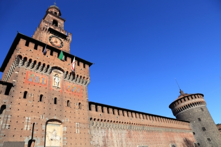 sforzesco: Castello Sforzesco (Sforza Castle) in Milan, Italy Stock Photo