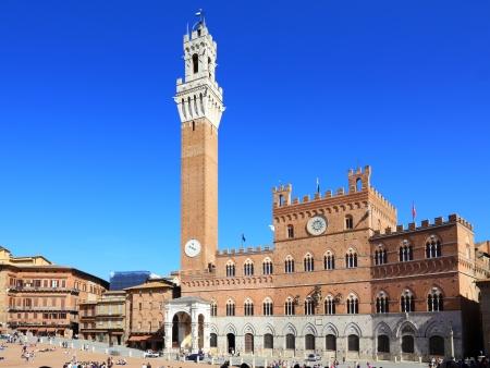siena: Piazza del campo, main square in Siena - Tuscany (Italy) Editorial