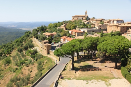 chianti: Montalcino, home of Brunello wine. Tuscany, Italy