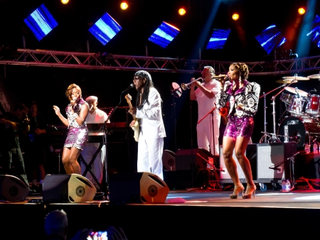estival: LUGANO, SWITZERLAND - JULY 7: Nile Rodgers and The Schic at estival Jazz on July 7, 2012 in Lugano, Switzerland