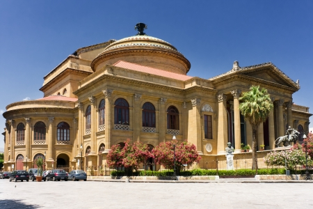 Palermo, Sicily - Italy. Teatro Massimo the third largest opera house in Europe. Editorial