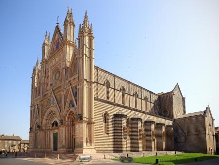 umbria: Duomo di Orvieto,cathedral  Decorated facade, Umbria, Italy Editorial