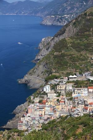 italian village: Riomaggiore and The street of Love, Cinque Terre, Italy