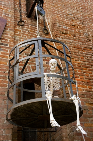 Halloween Skeleton in a Cage photo