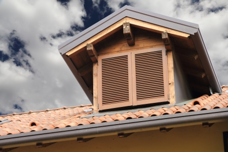 closed window on roof of residential house Stock Photo - 15353737