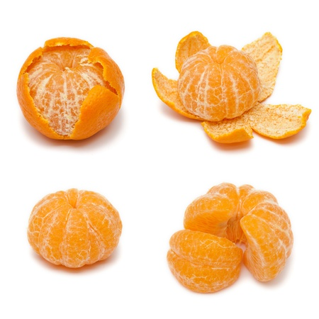 Collections of Tangerine  or mandarin isolated on white background photo