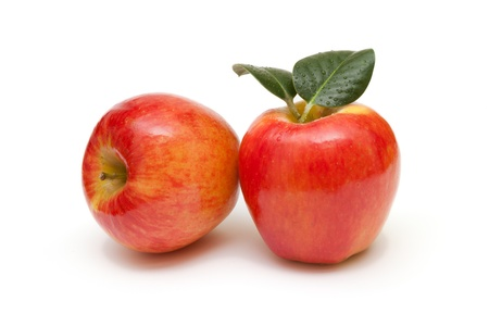 fresh red apples isolated on white background Stock Photo - 17729571