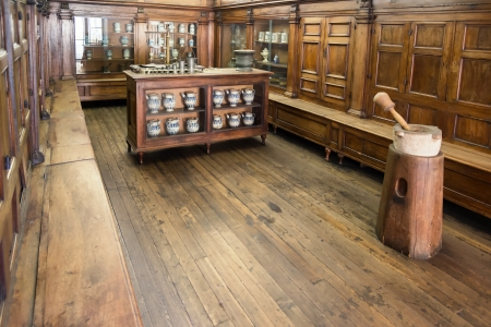 farmacia: antico laboratorio di ricerca di scienza antica farmacia
