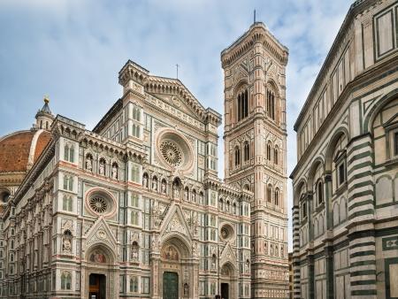 De Dom van Florence en de klokkentoren in Toscane, Italië