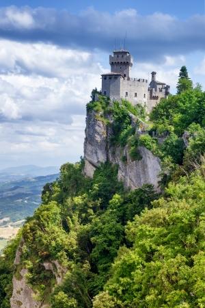 san marino: Rocca della Guaita, ancient fortress of San Marino, Italy