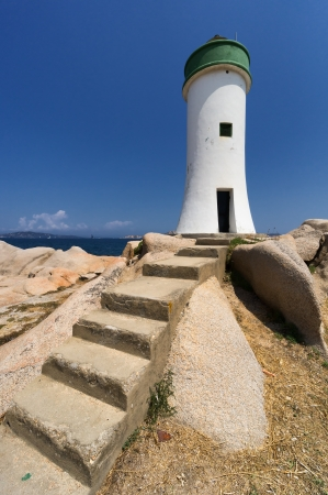 Palau Lighthouse Punta Faro, North Sardinia, Italy photo
