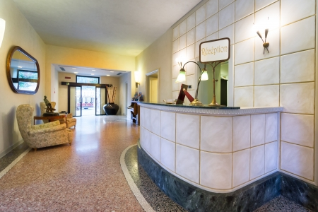 hotel reception: Reception hall of a classic hotel