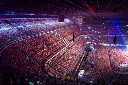 stadium crowd: big crowd on stadium at a live concert
