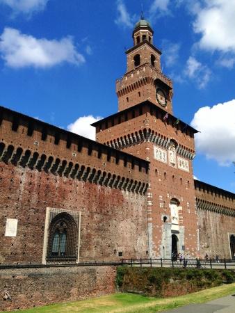 sforza: Sforza Castle in Milan Italy
