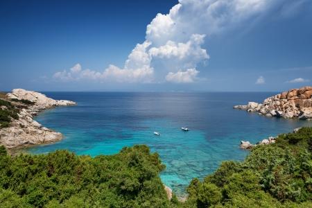 sea in cala spinosa bay, Capo Testa, Sardinia, Italy Stock Photo - 21769128