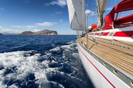 Yacht, Sailing boat in the sea of Sardinia, Italy 写真素材