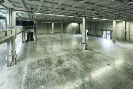 Large empty storehouse