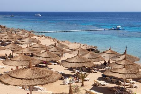 sheik: beach in Sharm al Sheik, Egypt.