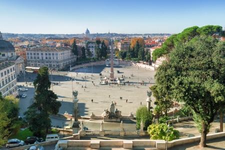 del: View on Piazza del Popolo , Rome, Italy