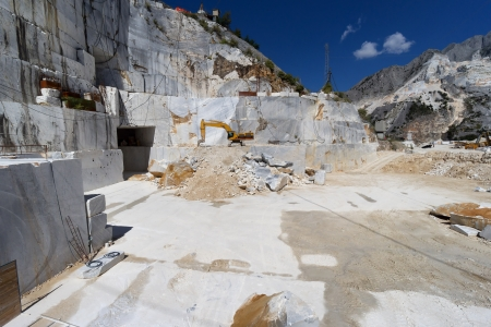 quarry of white marble in Carrara, Tuscany, Italy photo