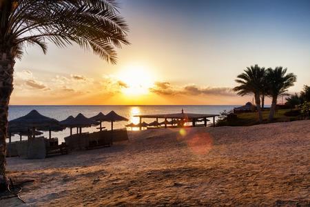 beatiful: beatiful sunset on the beach